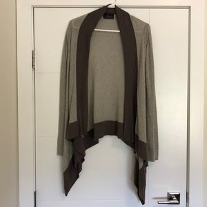 Line Asymmetrical Open Cardigan
